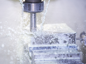 Machine Shop Milling Aluminum into Product